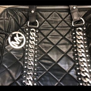 Michael Kors Quilted Bk Lambs Leather Fulton Bag